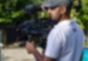 Cameraman on shoot with Sony F55 video camera. Video production in Sri Lanka.