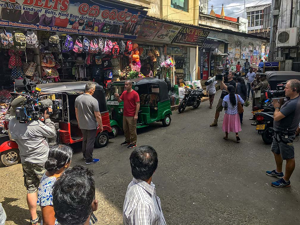 Matt Leblanc and Chris Harris filming BBC Top Gear in Kandy, Sri Lanka