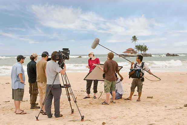 Documentary filming on the beach in Sri Lanka