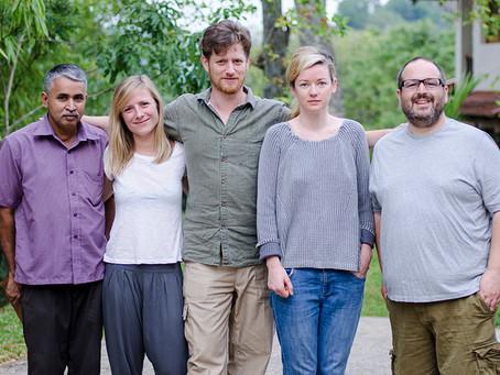 Justin Moorhouse takes a break in Sri Lanka