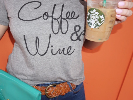 All I need is Coffee and Wine - Thread Tank