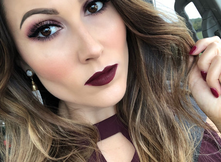 Aggie Maroon Makeup
