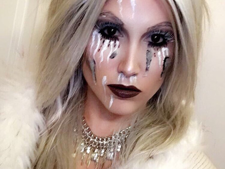 EVIL ICE QUEEN MAKEUP/COSTUME