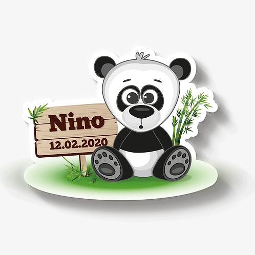 Pandabär mit Schild
