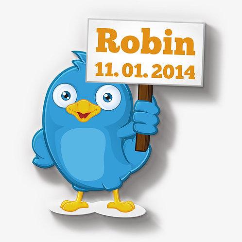 Tweety mit Schild