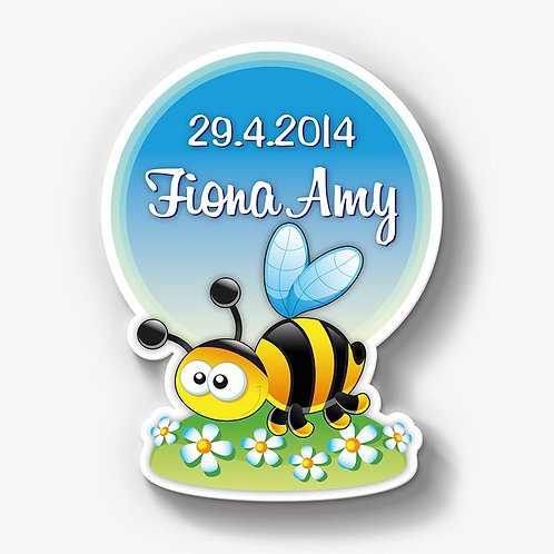 Biene in Blumenfeld