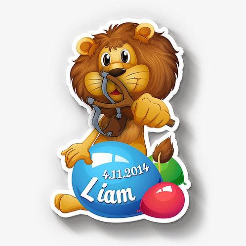 Löwe mit Wasserballons