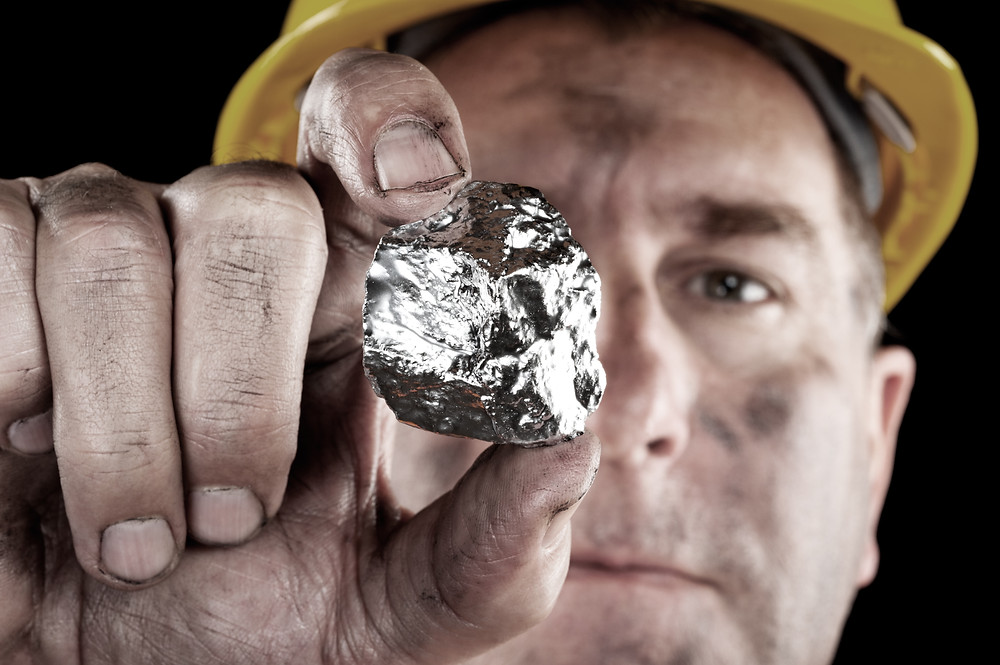 Pure Organic Silver Mineral Rock