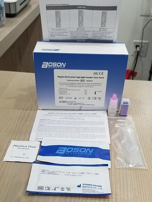FDA Registered COVID-19 60 Sec Rapid IgG/IgM Test Kit_BOSON Biotech