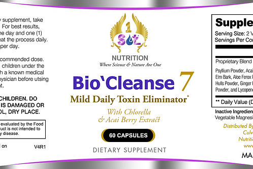 Bio`Cleans 7 (Mild Daily Colon Cleanser)