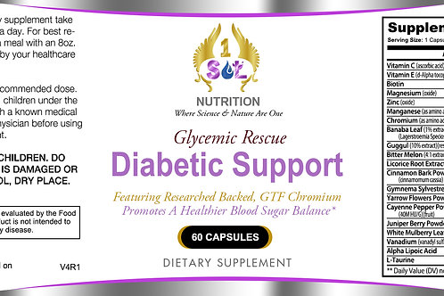 Glycemic Rescue (A Boost In Healthy Blood Sugar Support)