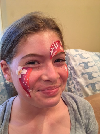 Rainbows Face Painting