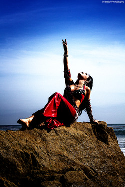 Beach Belly Dancer Photo Shoot
