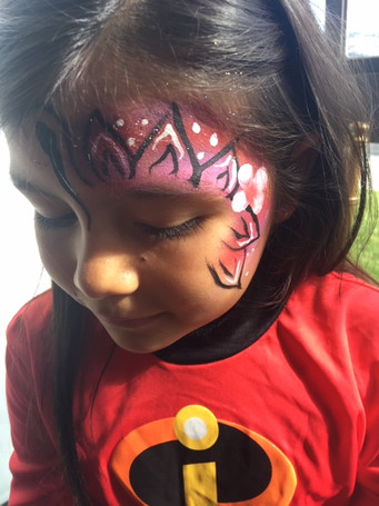 Flower Butterfly Face Paint
