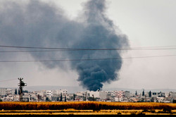 Kurdish refugees from Kobane