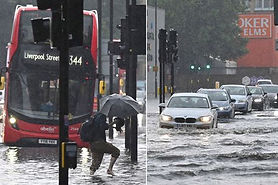 Hospitals declare 'critical incident' and patients urged to go elsewhere as storms hit UK.