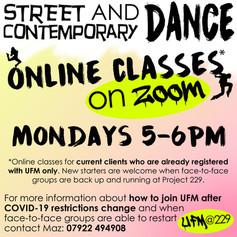 UFM Dance Classes Online
