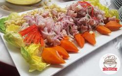Ceviche de pescado con camotito