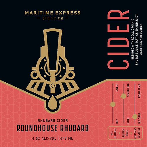 Roundhouse Rhubarb King Can -4 Pack