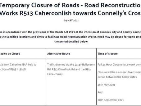 Temporary Road Closures