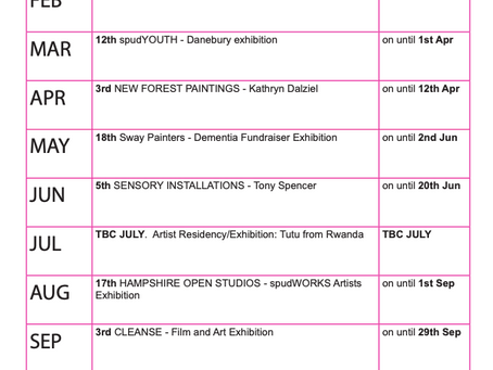SPUD Exhibition Programme