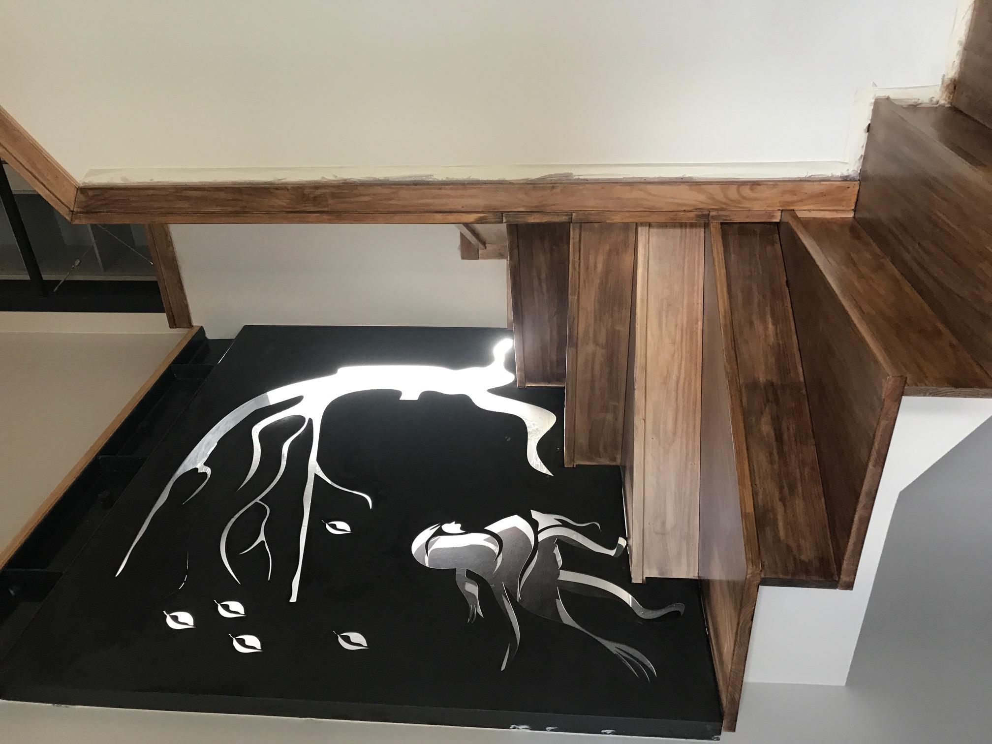 escada do mezanino