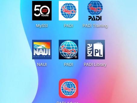大比併: PADI NAUI SSI 數碼教學APP比較