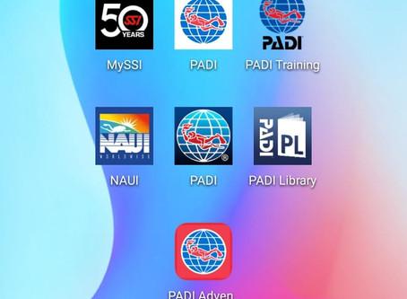 PADI NAUI SSI (網上教學e-learning) APP比較
