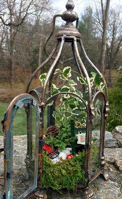 10 in open top metal lantern