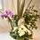 Thumbnail: Blue speckled pot/Orchid/succulent arrangement