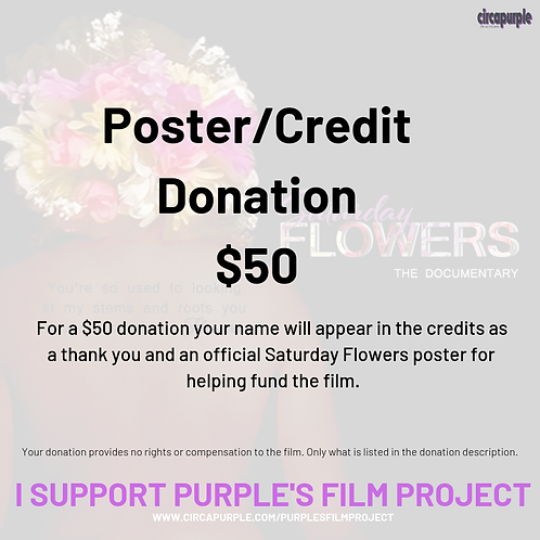 Poster and Credit Donation