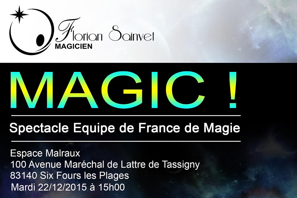 spectacle équipe de france de magie | magicien bordeaux | florian sainvet
