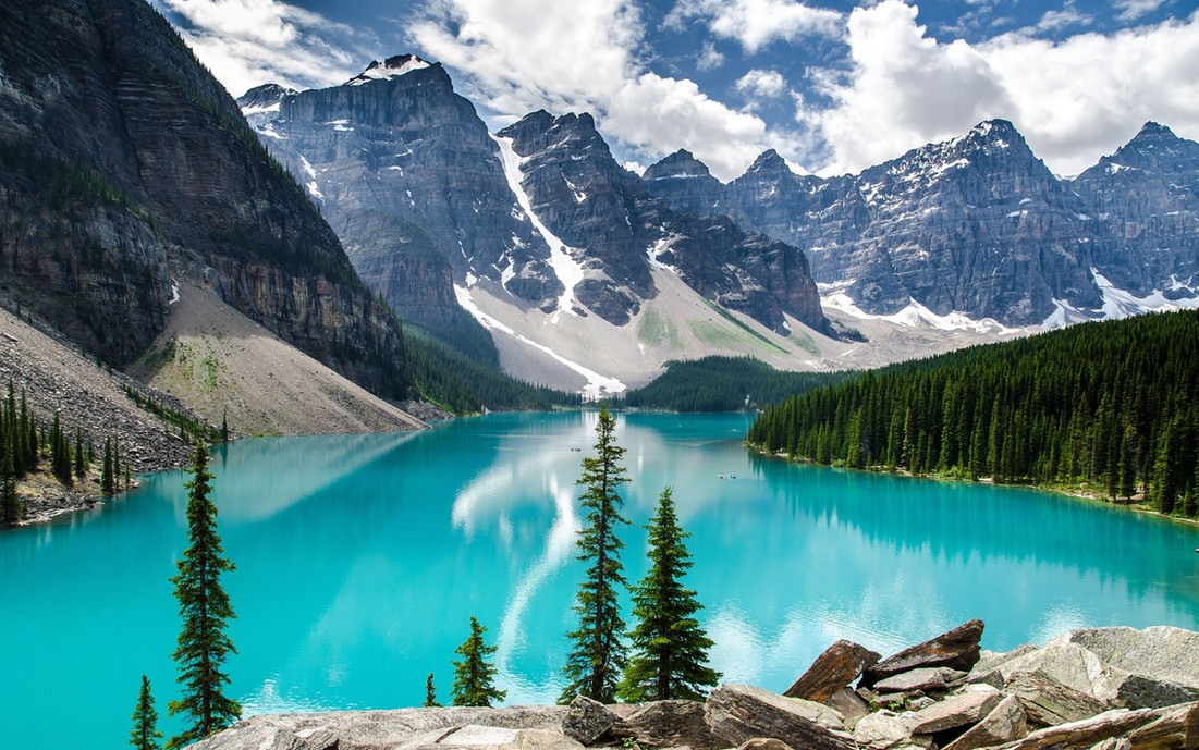 This is Morraine Lake in northern Alberta