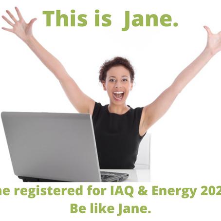 Register for IAQ & Energy 2020