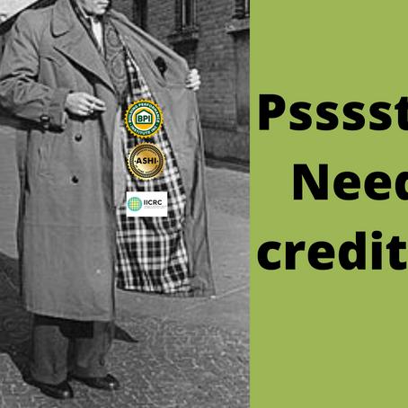 Psssst... Need Credits?  We got 'em!