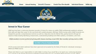 IAQA University Online - Earn CEC's online!