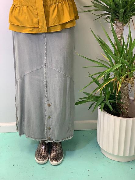 XCVI Snap Detail Skirt Women's