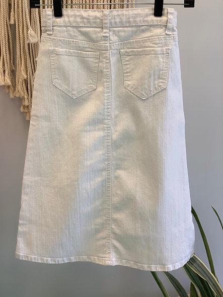 Little Girls White Denim Skirt