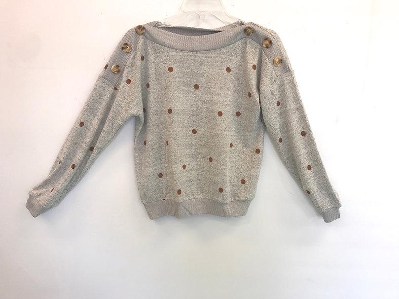Brown Dot Sweater Women's