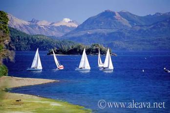 Regata en el Lago Nahuel Huapi