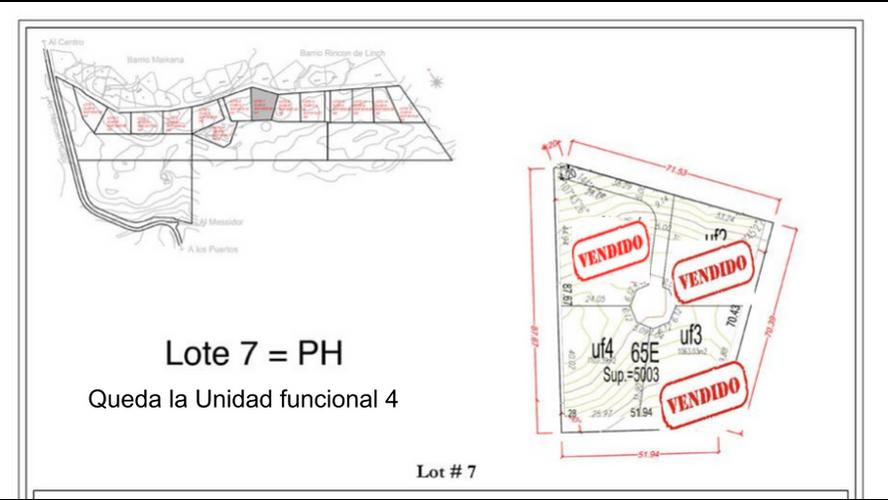 Lote 7 subdividido en 4 parcelas de 1.200 m2 aprox.