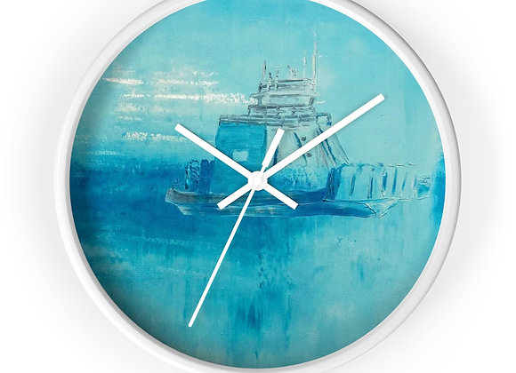 Drummond Island Ferry Wall Clock (Blue)