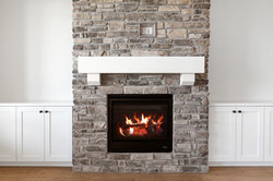 Fireplace with Cabinets
