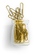 glass-jar-gold-metallic-paperclip-flatla