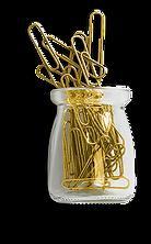 glass-jar-gold-metallic-paperclip-flatla