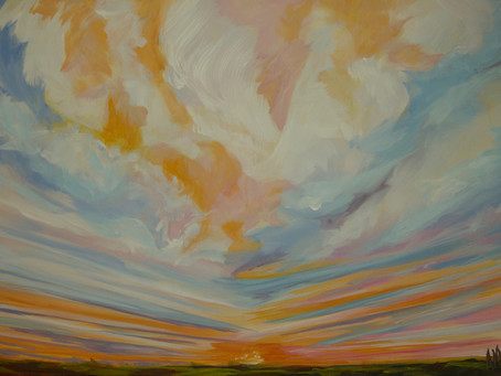 "1/22 ""Step Into My World"" Virtual Art Exhibition, Abstract Landscapes Works by Anne Borders"