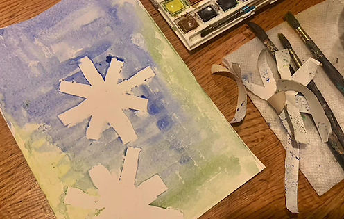 Snow Flake Painting