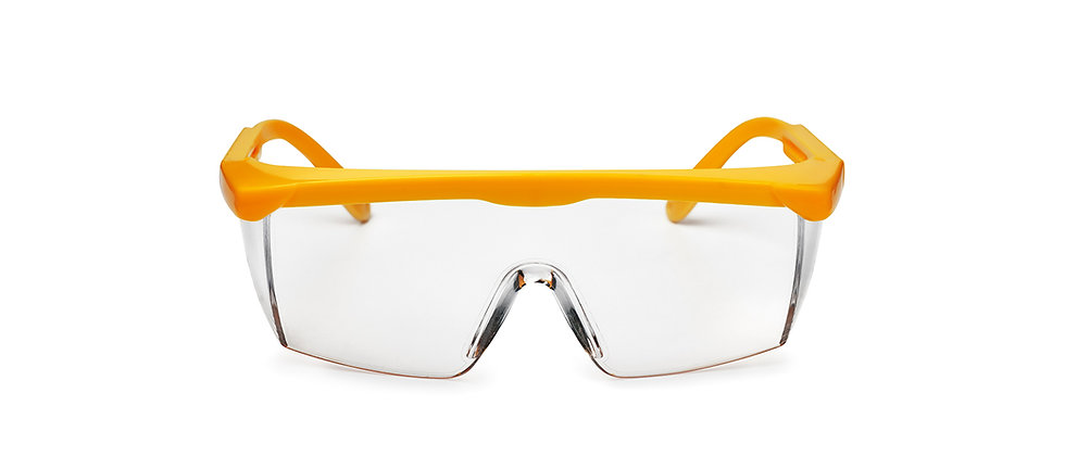 Safety Glasses Clear Lens Yellow Frame