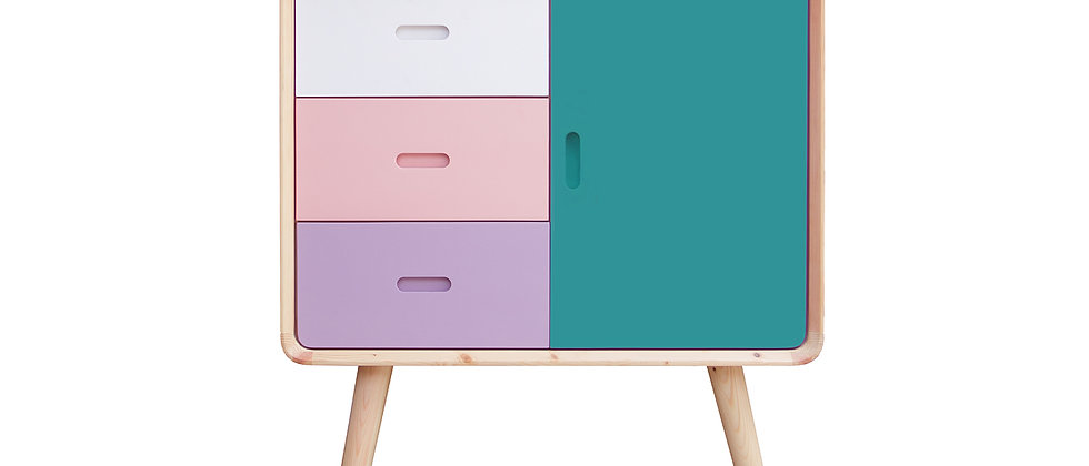 Colorful Wooden Cabinet
