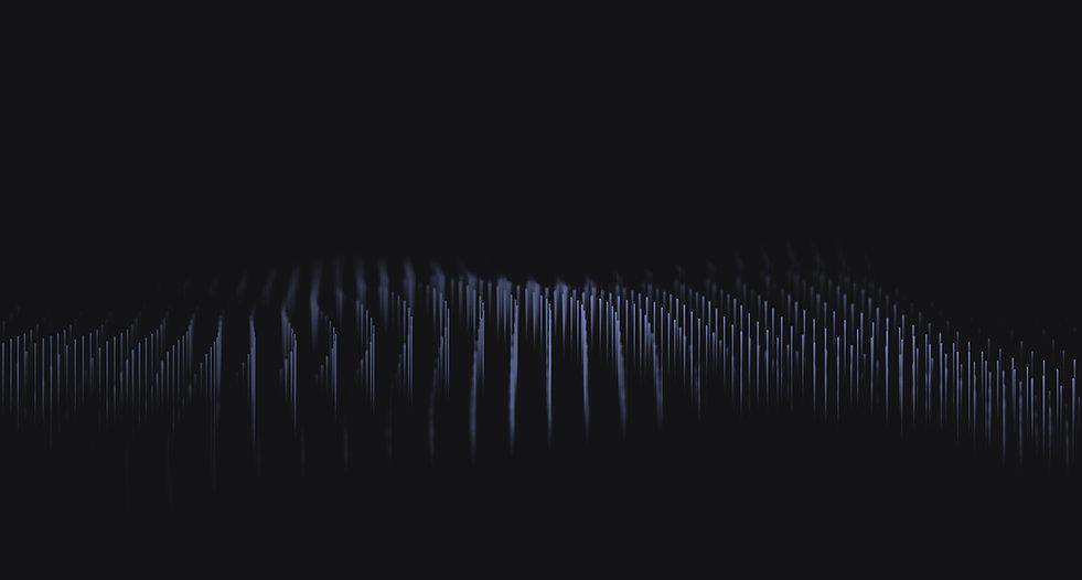 Video de fondo negro con forma de onda lineal